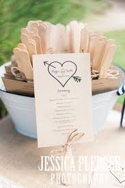 Rustic Wedding Program Fans 33 Best Wedding Programs Door Signs Tags Welcome Bags Images