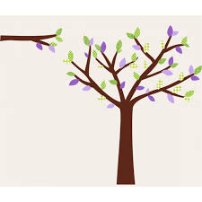 Wall Decals For Girl Nursery by Purple And Green Tree Wall Stickers For Girls Rooms