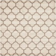 beige 8 u0027 x 8 u0027 trellis square rug area rugs esalerugs