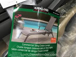 Kirkland Signature Patio Heater by Kirkland Signature Commercial Sling Chaise Lounge Costco Weekender