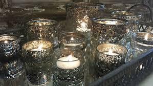 Chic Antique Style Glass Metal Vintage Tea Light Candle Holder