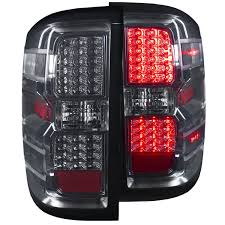 euro tail lights for chevy silverado amazon com anzousa 311216 smoke led tail light for chevrolet