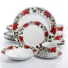 christmas dinnerware gibson home poinsettia 20 dinnerware set