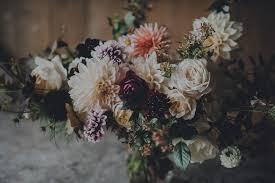 autumn wedding flowers by the garden gate flower company
