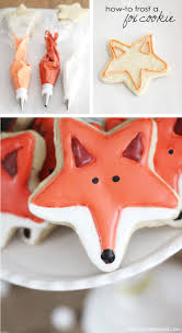 how to frost a fox shaped sugar cookies so cute i love foxes