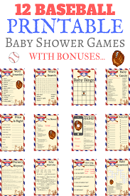 18 adorable baseball baby shower ideas print my baby shower