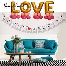 Wedding Backdrop Banner Online Shop Romantic Happy Wedding Hanging Banner Garland