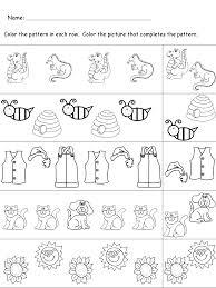 kindergarten worksheets maths worksheets pattern recognition