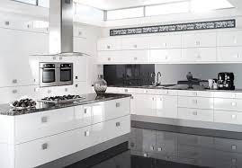 White On White Kitchen Ideas Black And White Modern Kitchen U2013 Home Design And Decorating