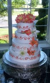 orange wedding cake for a wedding cake guide https