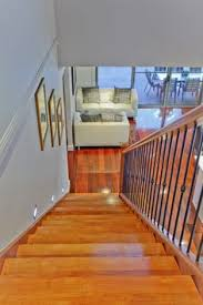 Timber Handrails And Balustrades Timber Handrail And Post With Wrought Iron Balustrade Stair