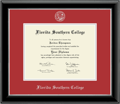 college diploma frames florida southern college silver embossed diploma frame in onyx