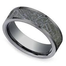 meteorite mens wedding band men s meteorite wedding rings