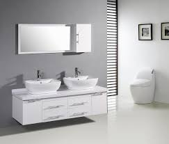 Double Vanity With Tower Bathrooms Design White Double Sink Bathroom Vanity Sets Basin