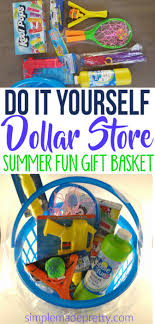 summer gift basket diy dollar store outdoor summer gift basket simple made pretty