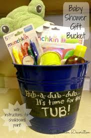 best 25 baby tub gift basket ideas on pinterest baby shower baby shower gift bucket with chalkboard paint