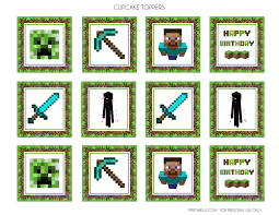 minecraft cake topper free minecraft printables catch my party