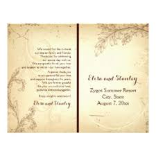 folded wedding program bi fold wedding programs flyers zazzle ca