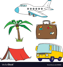 travel clipart images Holidays and travel clipart set royalty free vector image jpg