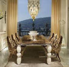 Luxurious Dining Table Luxury Marble Dining Table With Ceramic Legs Llorente