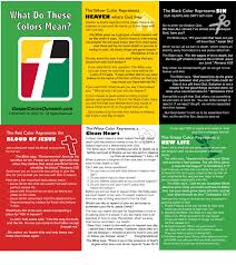 what do color mean what are the gospel colors gospel colors outreach equipping