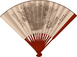 asian fan clipart asian fan with a map 1890
