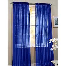 Bright Blue Curtains 2 Beautiful Sheer Window Royal Blue Elegance