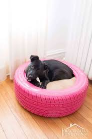 recycle a tire into a diy dog bed