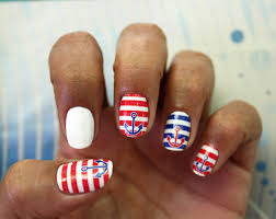 anchor sailor nail art decals on we heart it