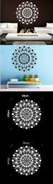 Lotus Flower Wall Decal Om by Mural Mandala Ornament Indian Geometric Moroccan Pattern Yoga