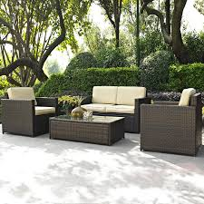 Lowes Patio Furniture Sets Shop Crosley Furniture Palm Harbor 4 Wicker Patio