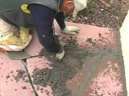 Mortar Mix For Patio Grouting Flagstone And Tucking In Cement Youtube
