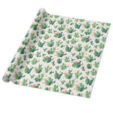 themed wrapping paper cactus themed wrapping wrapping paper zazzle