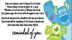 monsters baby shower book request cards cutecreationsshoppe