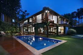 home with pool pool of house with wooden elements and beautiful garden home