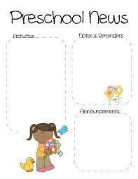 spring preschool newsletter template the crafty teacher