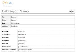 Field Inspection Report Template by Field Report Memo Template Dotxes