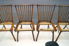 Vintage Outdoor Folding Chairs Vintage Wooden Dining Chairs 1950s Set Of 4 For Sale At Pamono