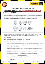 energy saver globe warning message mercury exposure foot injury