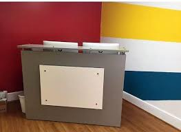Reception Desk Shell Express Reception Desk Shell Which Fits A 15 Monitor 48 60