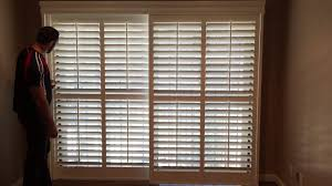 Bypass Shutters For Patio Doors Bypass Shutters On Sliding Door