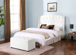 White Cushioned Headboard by Bedroom Blue Tufted Padded Headboard For Bedroom Decoration Ideas
