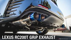 lexus rc 200 turbo lexus rc 200t ark performance grip exhaust teaser youtube