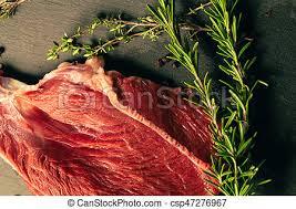 planche ardoise cuisine viande boeuf ardoise cru planche épices image de
