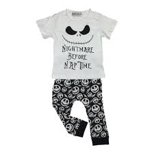 nightmare before nap time clothing set white