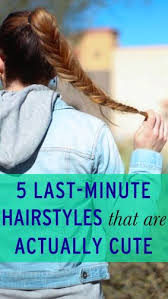 cute hairstyles you can do in 5 minutes 5 hairstyles you can do in 5 minutes hair style makeup and hair