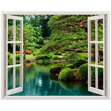 zen garden wall decal