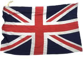 Soviet Union Flag Ww2 1940s British Cloth Military Union Jack Made In England Vintage