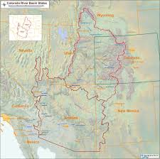 Colorado On The Map by Colorado River Map With States
