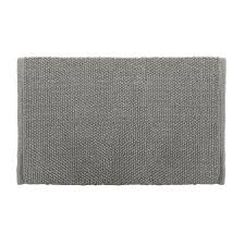 Gray Bathroom Rug Sets Shop Colordrift Popcorn Bath Rug 20 0 In X 30 0 In Gray Cotton